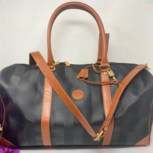 Preowned Authentic Fendi Travel Bag